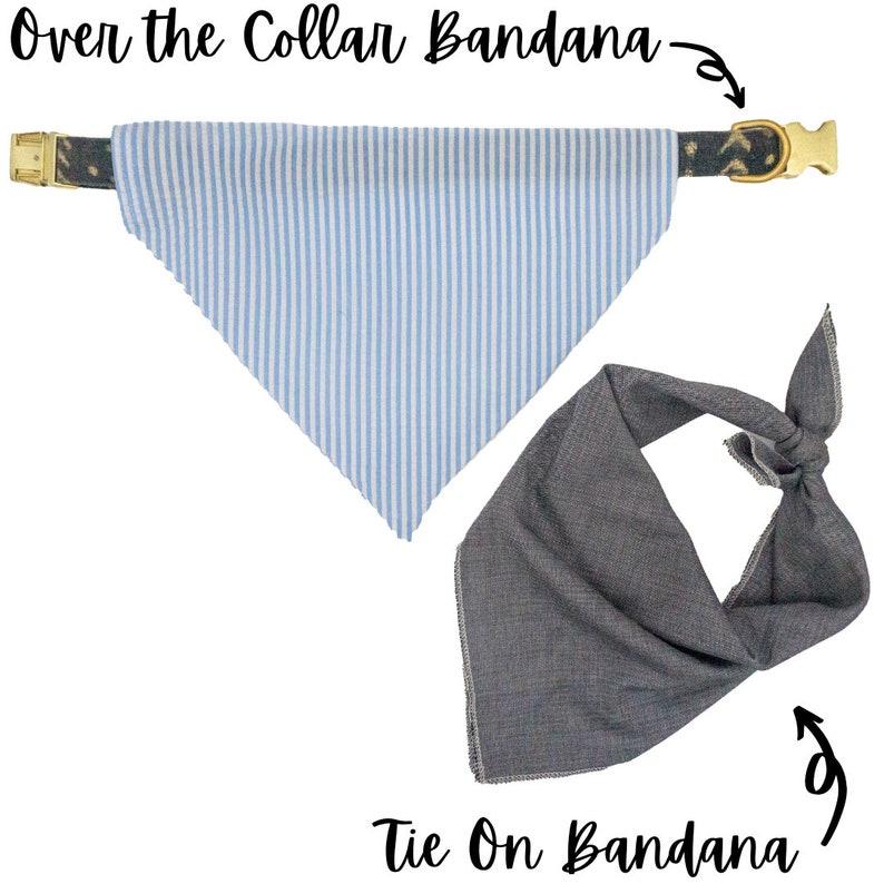 Over the Collar or Tie on USC Bandana Option to Personalize University of South Carolina Bandana