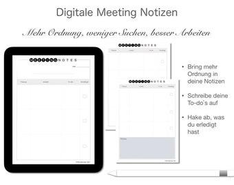 Digitale Meeting Notizen   Deutsch