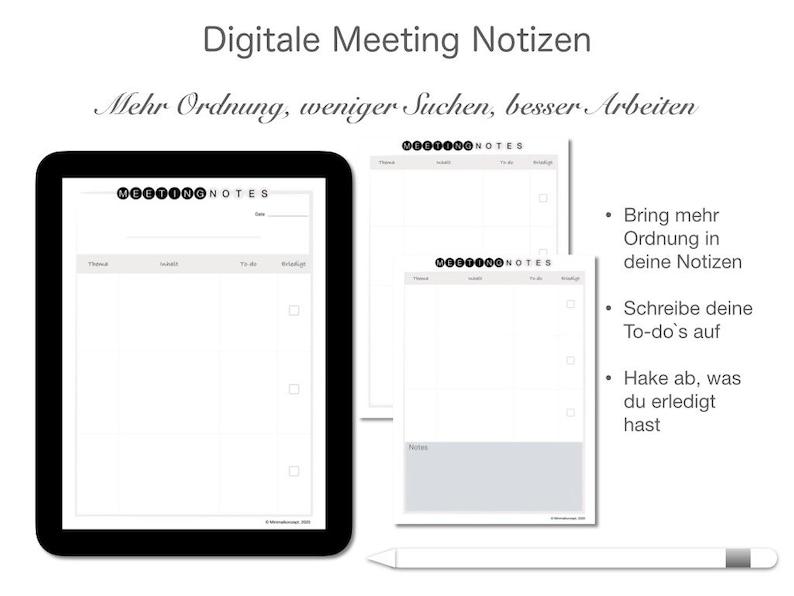 Digitale Meeting Notizen  Deutsch image 1