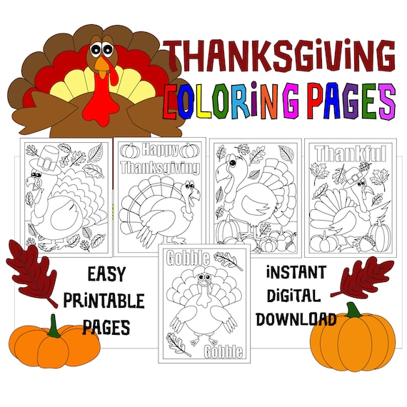 Thanksgiving Coloring Pages  5 Printable Coloring Pages for