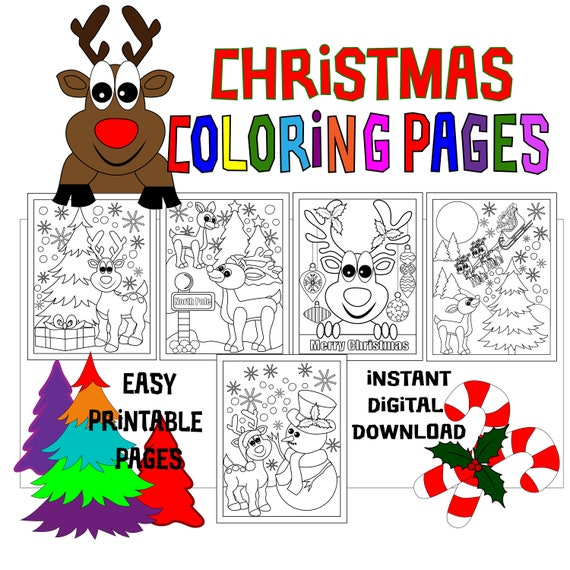 Christmas Coloring Pages  5 Printable Coloring Pages for