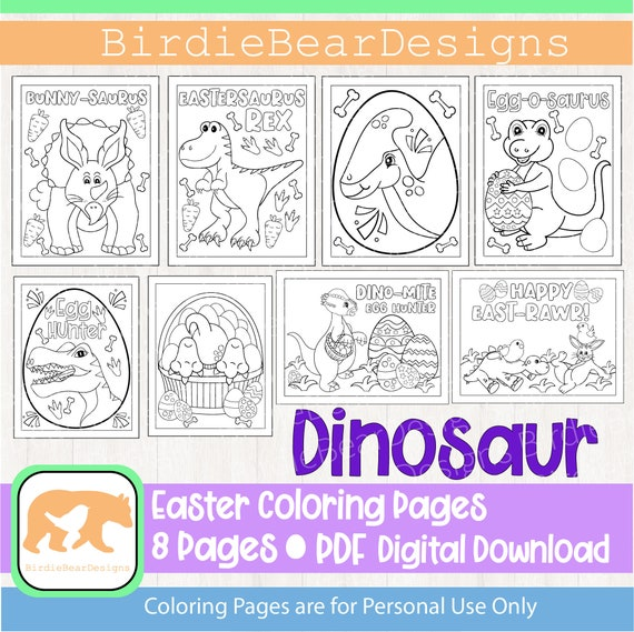 Dinosaur Coloring Page  Easter Coloring Pages  Easter