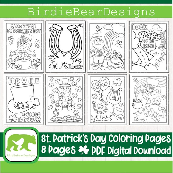 St Patricks Day Coloring Pages  St Patricks Day Coloring Book