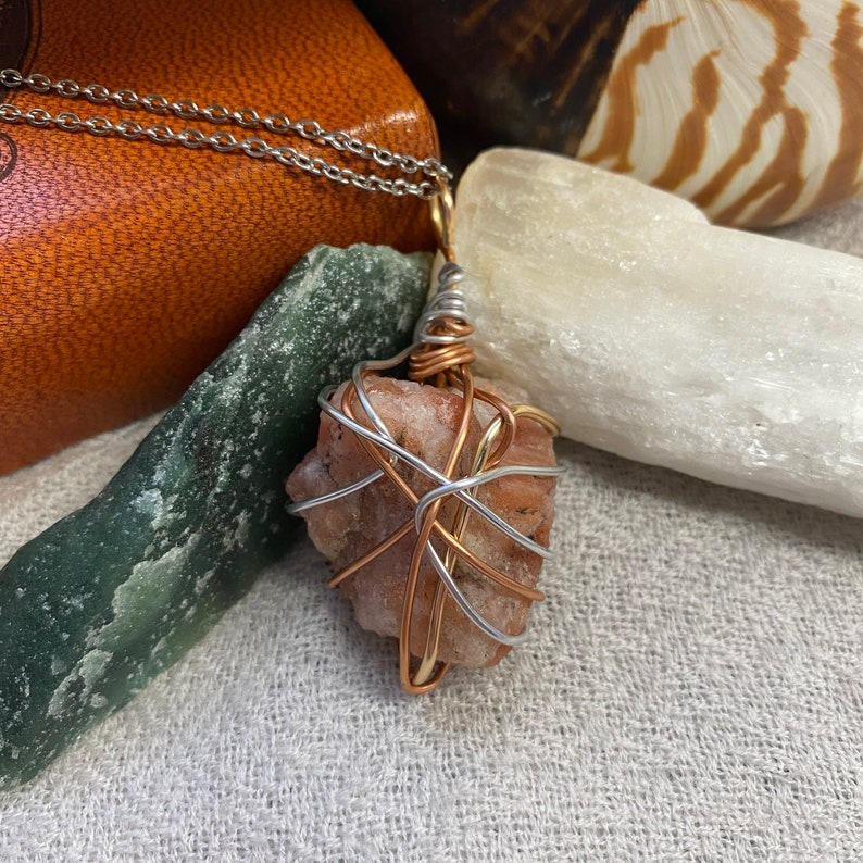 Sunstone Necklace Metaphysical Jewelry Crystals