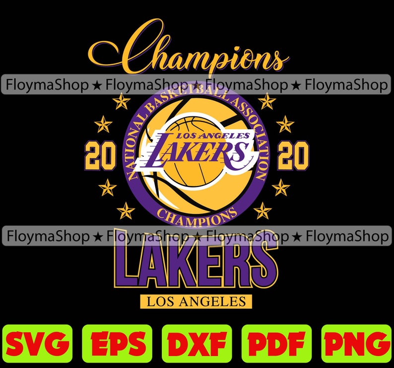 Los Angeles Lakers Champions Svg Los Angeles Lakers Svg Etsy