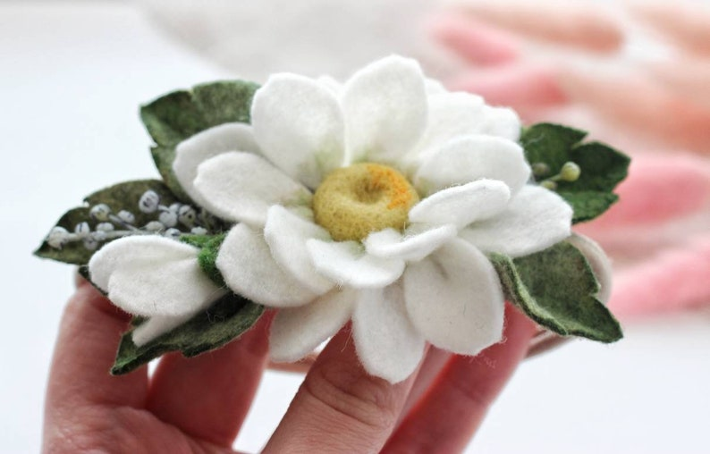 baby summer floral hair accessories white daisy flower headband summer birthday party Chamomile headband white flowers headband