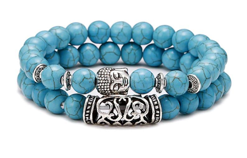 Natural Lava Budha Men Women Bracelet