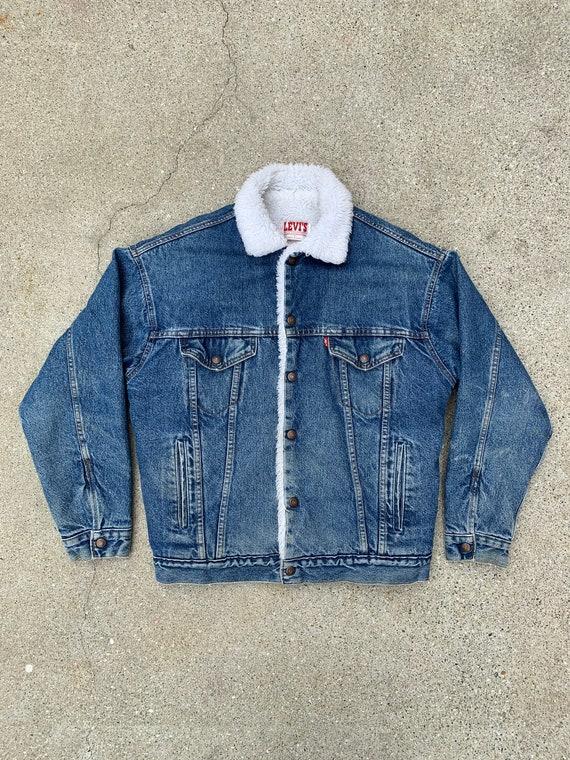 Vintage Levi's sherpa denim jacket