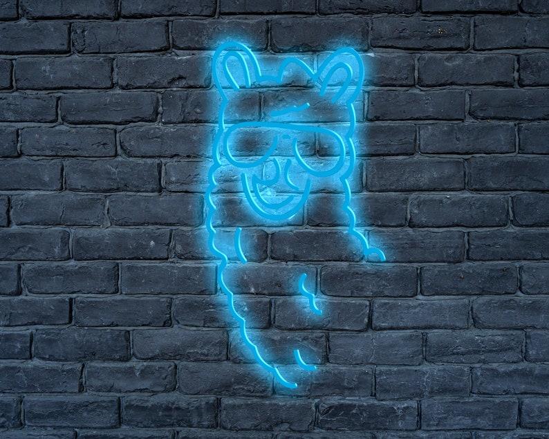 bed light event neon sign Lama LED neon sign wall light custom neon sign Cool Lama LED neon sign wall d\u00e9cor