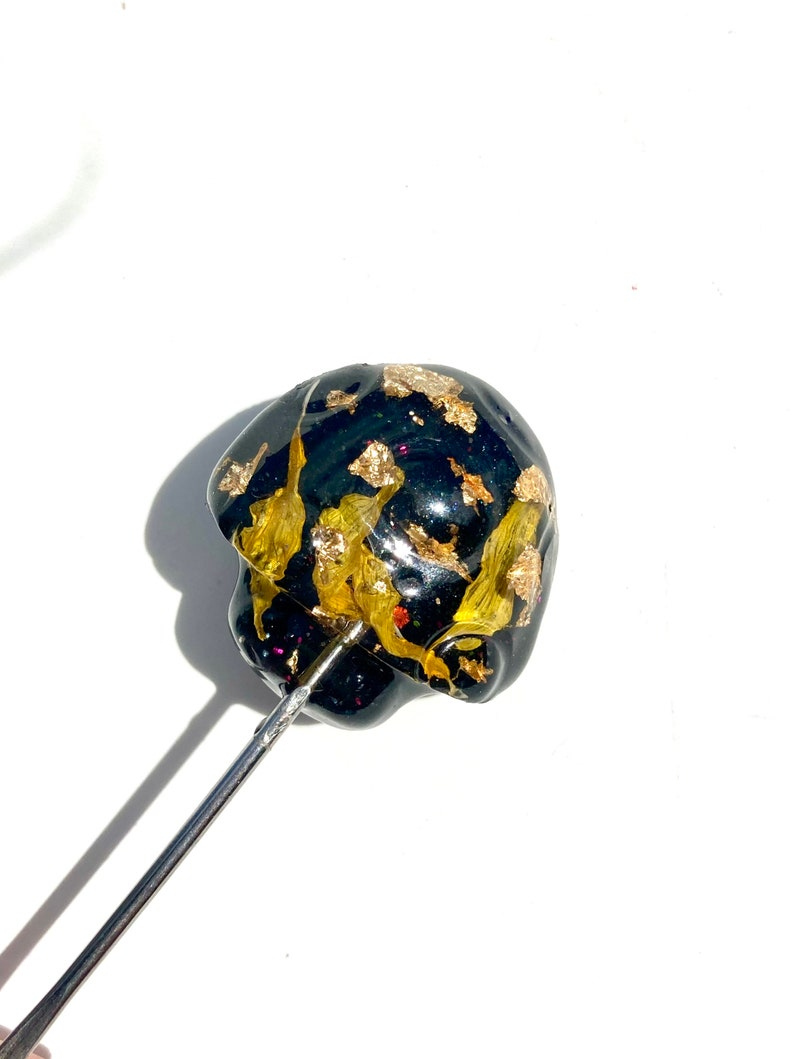 Sunflower and Black ToolsSmall Resin Smoking AccessoriesResin Mushroom DecorHeart Scoop Tool420 Gift Ideas