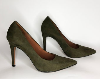 Olive green shoes   Etsy