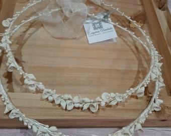 \u03c3\u03c4\u03ad\u03c6\u03b1\u03bd\u03b1 \u03b3\u03ac\u03bc\u03bf\u03c5 handmade stefana with freshwater pearls headband tiaras Sterling silver stefana pair of greek orthodox wedding crowns