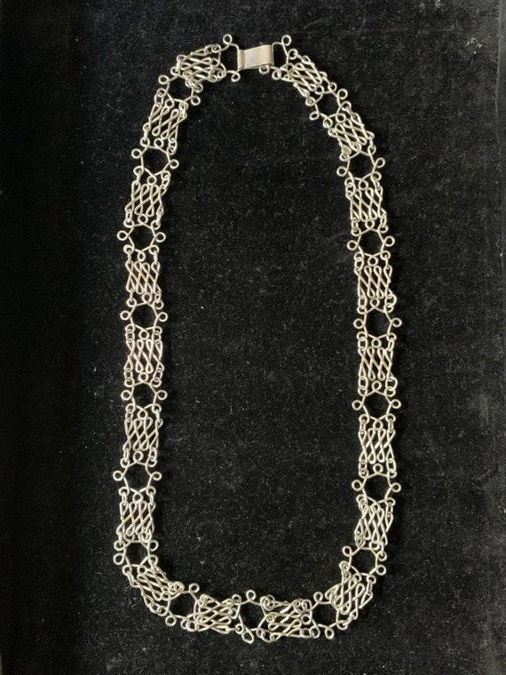French Vintage 950 sterling silver handmade link c