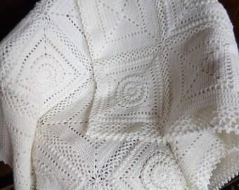 White pattern blanket ready to ship