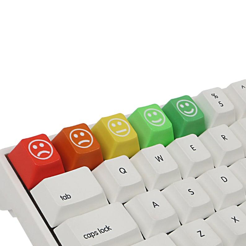 PBT Material Key Cap 5pcs Emoticon Key Cap Mechanical Keyboard Accessories Key Cap Keyboard Decoration. PBT Personalized Key Cap