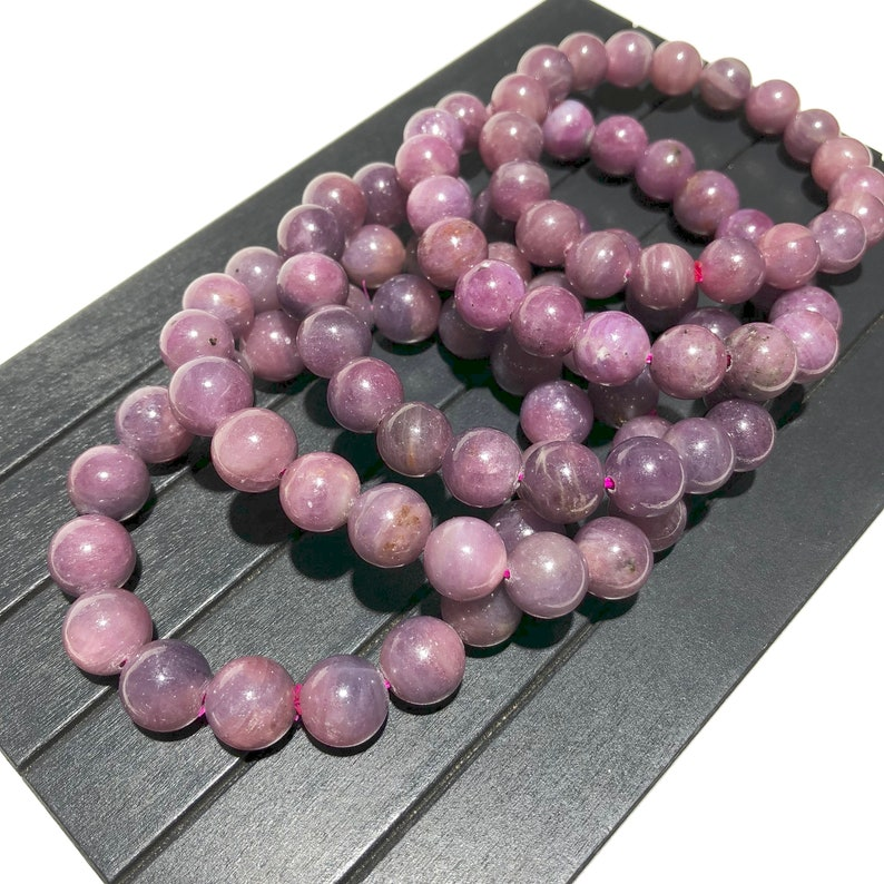 6mm 8mm 10mm 12mm Natural Red Ruby Beads Energy Gemstone Spacer Round Beads for Handcraft Bracelets Necklace DIY Jewelry Making Design