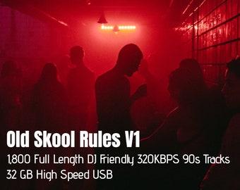 Old Skool Rules V1 USB DJ Pack 1,800 Full Length 320 kbps (High Speed 32GB USB)