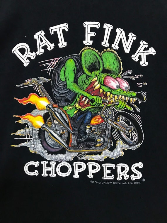 RAT FINK CHOPPERS motorcycle shirt hotrod black sh