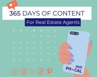 2021 Social Media Content Calendar for Real Estate Agents