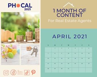 April 2021 Social Media Content Calendar for Real Estate Agents