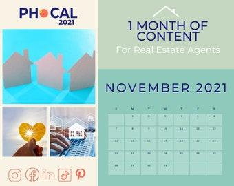 November 2021 Social Media Content Calendar for Real Estate Agents
