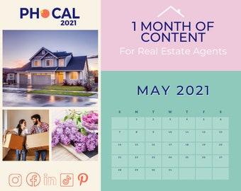 May 2021 Social Media Content Calendar for Real Estate Agents