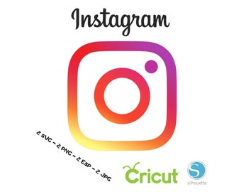 Instagram SVG for Cricut and Silhouette Cutting Machines