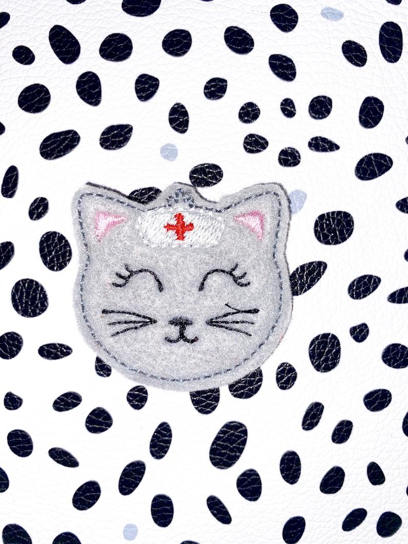 Kitty Nurse Interchangeable Badge Topper