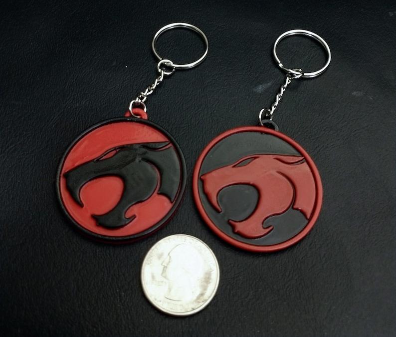 Bag Charm Thundercats Emblem Keychain 80s Cartoon Holiday Tag Lanyard Retro Gifts Party Favor Geek Birthday 3D Printed