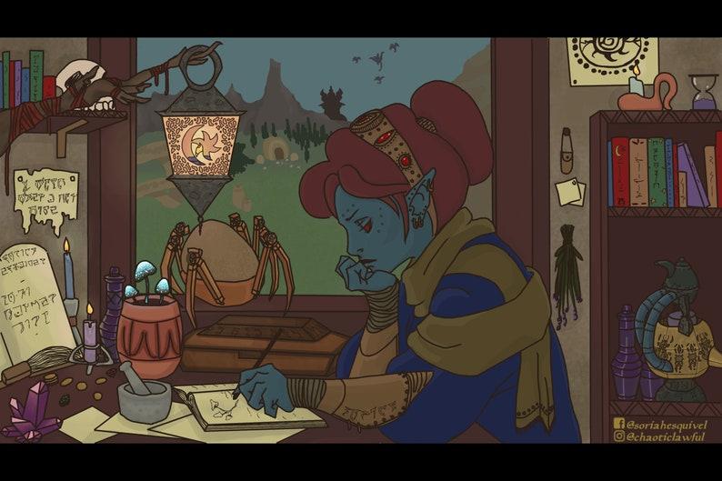 Lo-fi Dunmer Girl Print 12x8 The Elder Scrolls