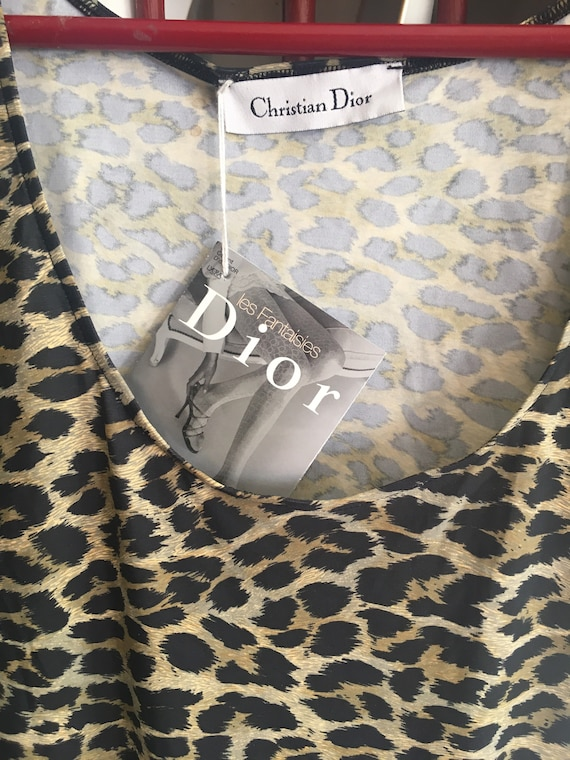 Christian Dior NEW NWT 1980s Leopard print Leotar… - image 8
