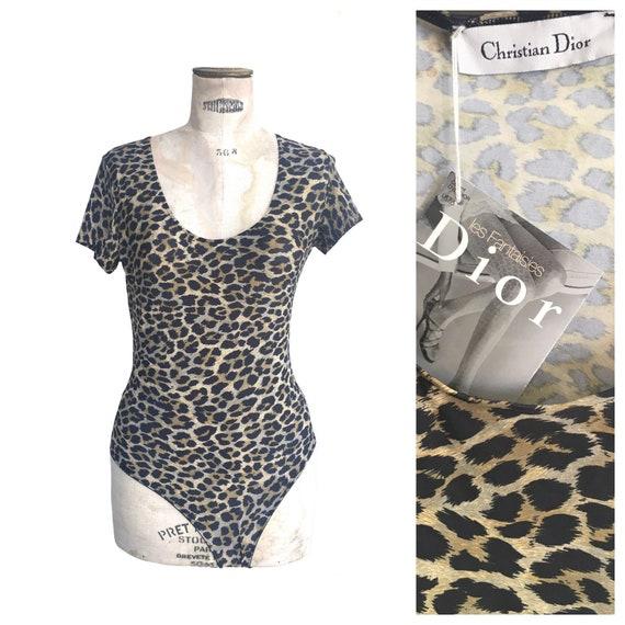Christian Dior NEW NWT 1980s Leopard print Leotar… - image 1