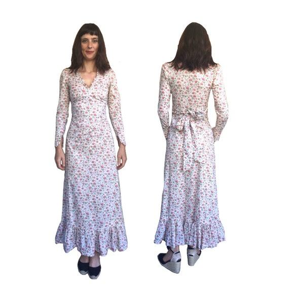 1970 s Liberty of London Boho Prairie Floral Dress