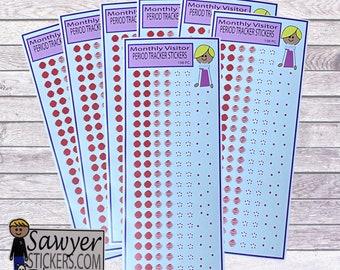 PERIOD TRACKER planner sticker || calendar sticker reminder