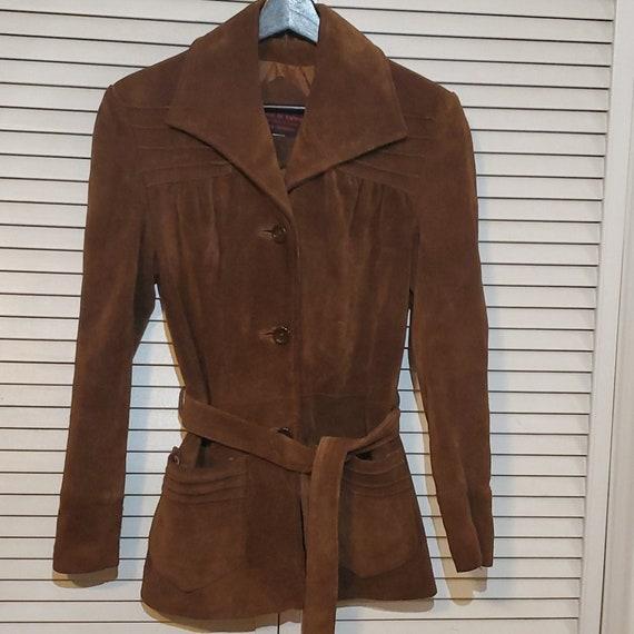 Vintage Women's 70s Brown Suede Jacket