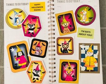 Halloween Sticker Set - 12 stickers
