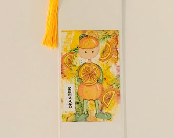 ORANGES - 'Oh so fruity' bookmark!