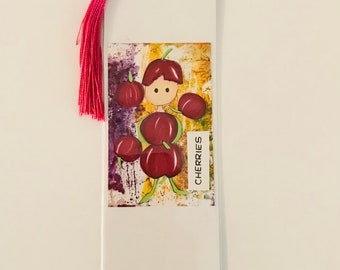 CHERRIES - 'Oh so fruity' bookmark!