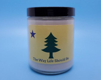 7.5 Ounce Peaks Island Handmade in North Yarmouth 100/% Soy Wax Candle Maine