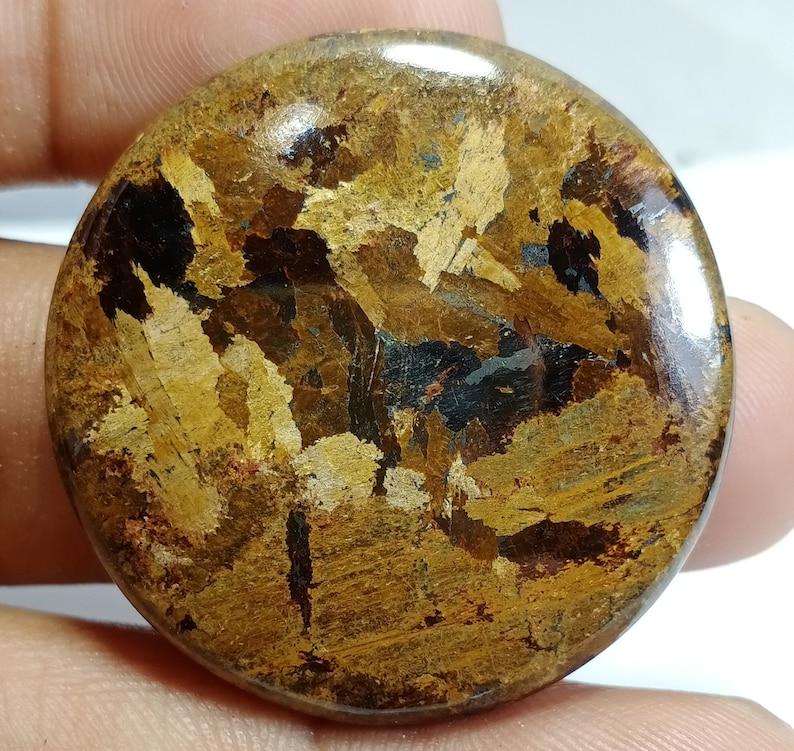 Top Quality Brown Jade cabochon Semi Precious Gemstone hand Polish Loose stone 100/% Natural Brown Jade Circle Stone 36 X 36 mm 67 Ct #A599