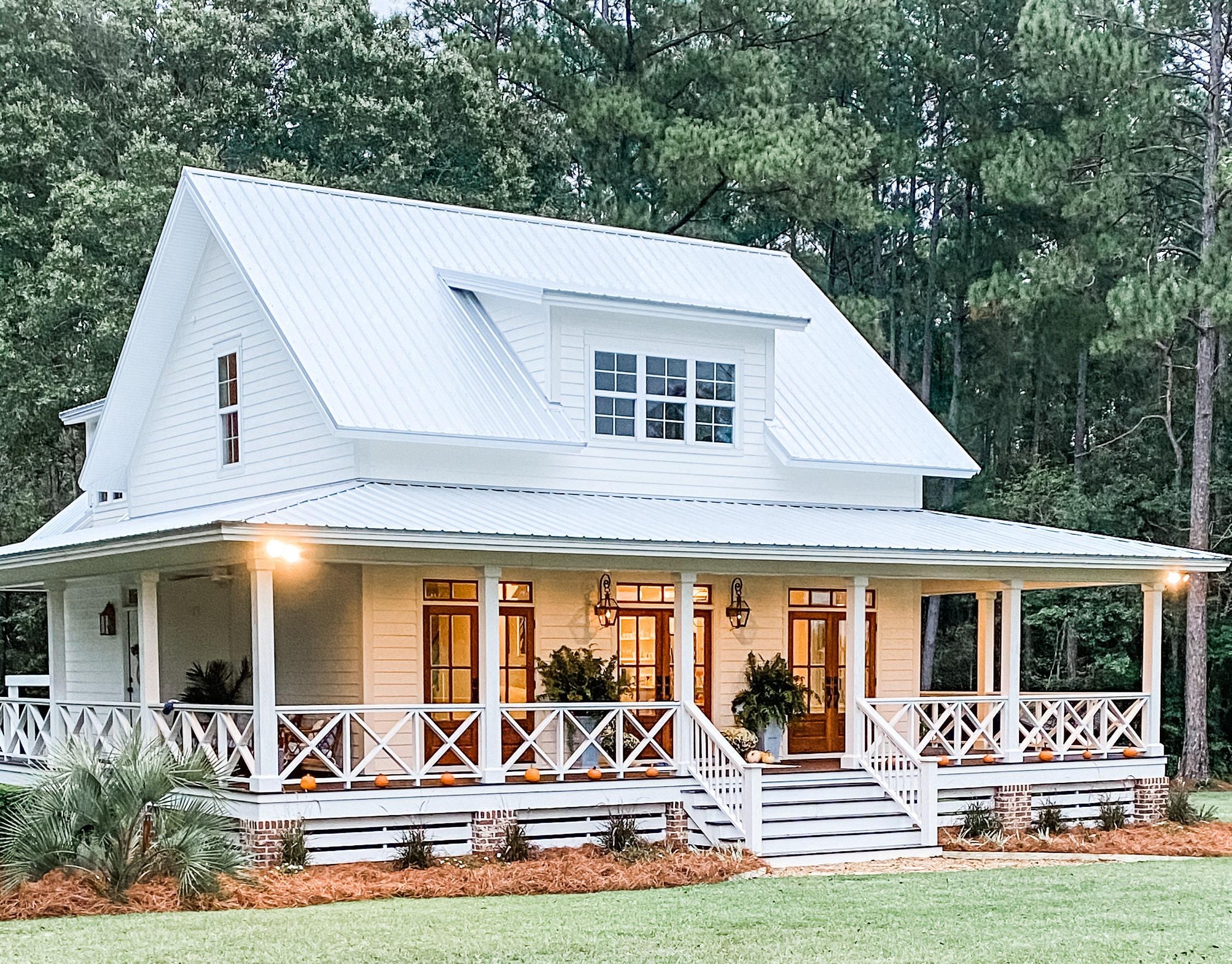 Cottage House Plan Variation 1 Cottonbluecottage Etsy
