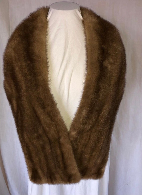 Mink Fur Stole with Pockets
