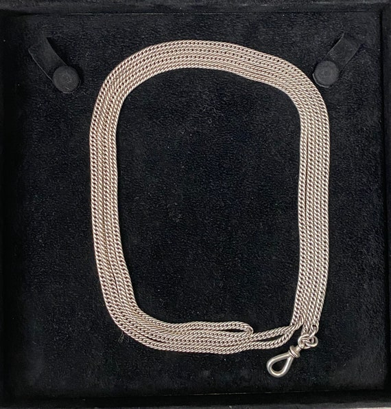 Victorian Silver Long Guard Chain