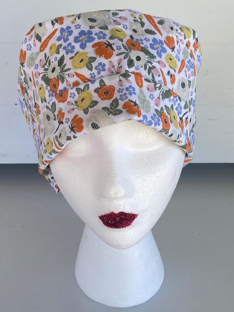 women\u2019s scrub hat Women\u2019s scrub cap spring print Easter Pixie Style scrub cap