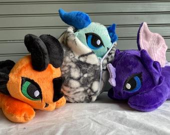 Custom Dragon Plush, Custom Plush Dragon Baby, Custom Plushie, Dragon Plushie, Custom Stuffed Animal, Custom Colors - Made to Order