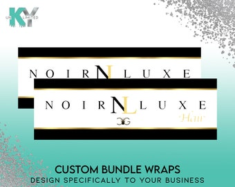 Custom Hair Extension Bundle Wraps Adhesive