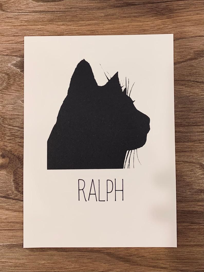 Custom Cut Paper Pet Silhouette-headside profile