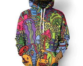 Mushroom Funny 3D print Hoodie Men Women Sweater Sweatshirt Jacket Pullover Top