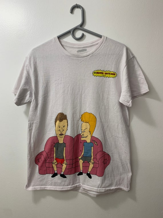Beavis and Butthead Front and Back Vintage Tee - S