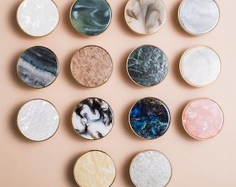 Shell brass one hole Knobs cupboard drawer pulls luxury wardrobe Knob Cabinet Knobs round Drawer Knob
